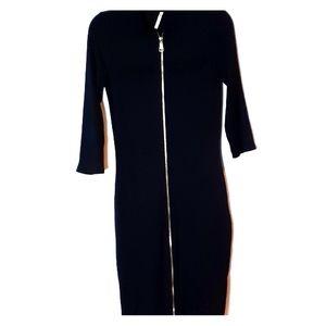 Black contour dress